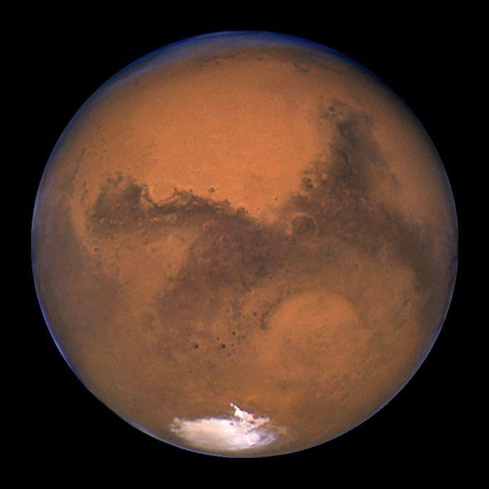 NASA's Hubble-ruimtetelescoop maakte dit beeld van Mars in 2003.