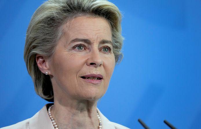 Europees Commissievoorzitter Ursula Von der Leyen.