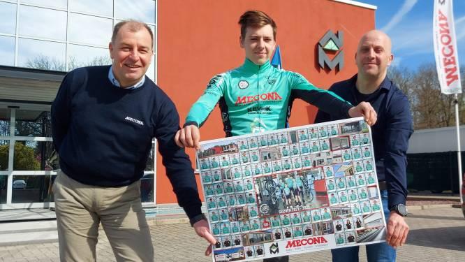 Jeugdwielrenners mogen geen wedstrijden rijden, dus laat hoofdsponsor Sport en Moedig Genk hen op poster schitteren