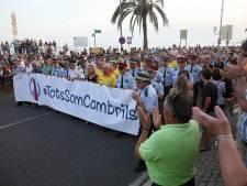 Marche contre la terreur à Cambrils, à la veille de celle de Barcelone