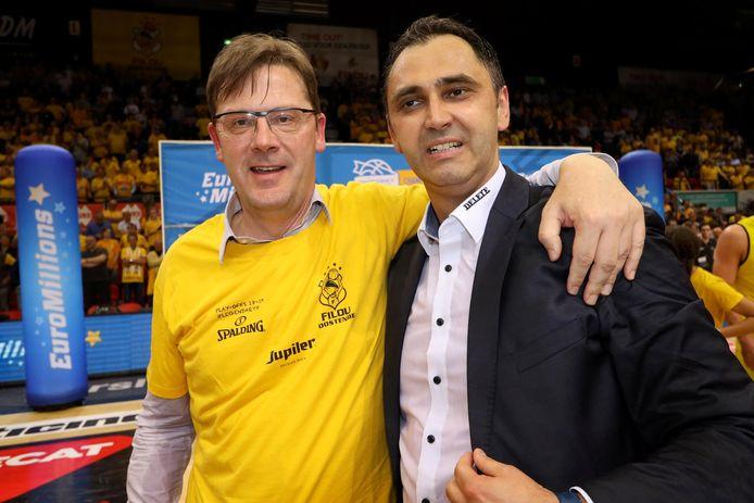 Johan Verborgh, voorzitter van Filou Oostende, wil ook volgend seizoen met coach Gjergja prijzen pakken in de BNXT League.
