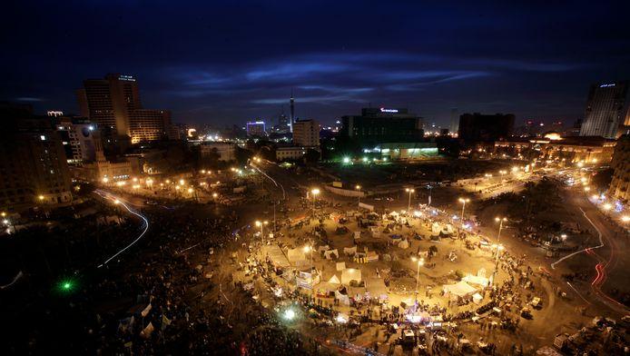 Het Tahrir-plein in Caïro.