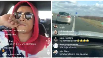 VIDEO: 'Temptation'-Mezdi deelt roekeloos rijgedrag op Instagram