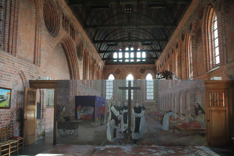 Ziekenzaal in Klooster Aduard. Beeld  Flip van Doorn