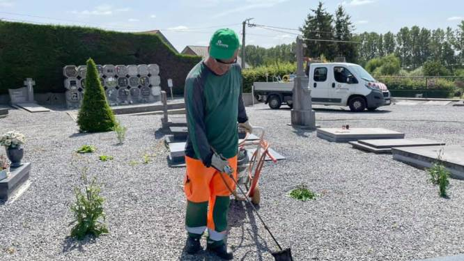 Groenjobs zorgen voor permanent propere kerkhoven