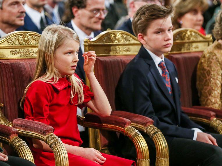 Prinses Eleonore en prins Gabriel.