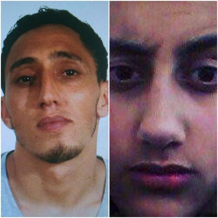 Het gaat om de neef van de broers Driss (links) en Moussa (rechts) Oukabir. Die maakten allebei deel uit van de terreurgroep. Beeld Photo News