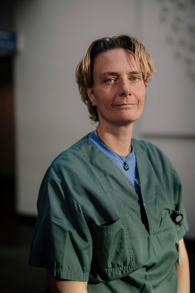 Martine Minnema, IC verpleegkundige bij het OLVG. Beeld Marc Driessen