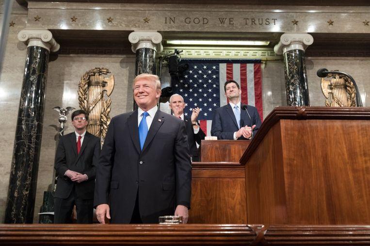 Trump bij de State of the Union in 2018. Beeld Shealah Craighead/Getty Images