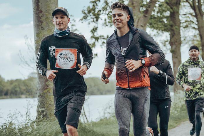 Wout van Aert doet mee aan de Wings for Life World Run.