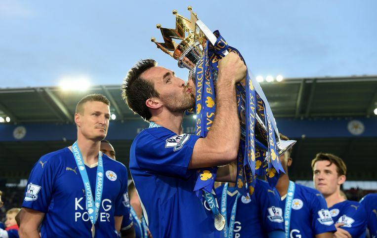 Christian Fuchs kroonde zich dit seizoen met Leicester City tot kampioen van Engeland. Beeld getty