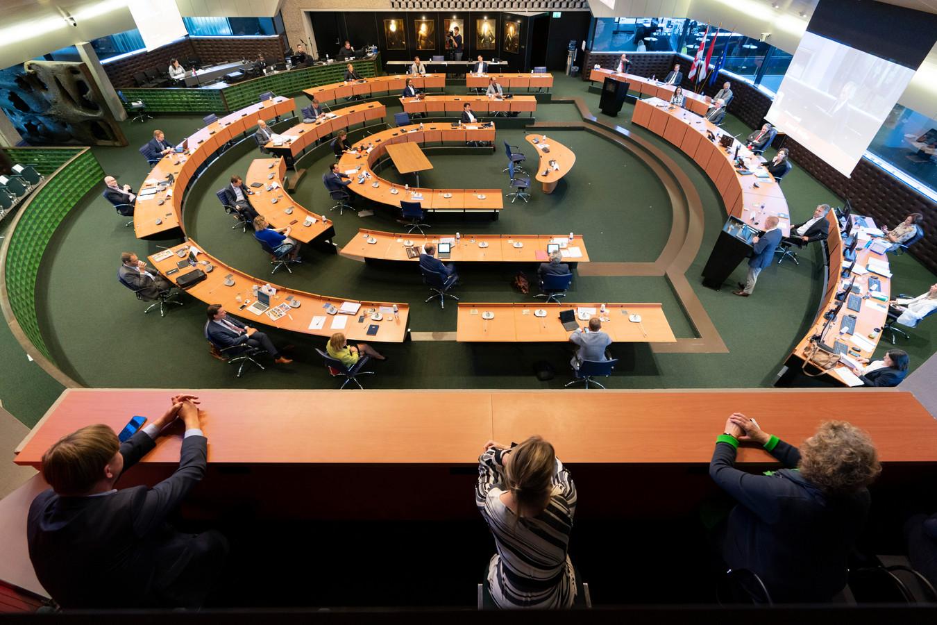De vergaderzaal van Provinciale Staten in het provinciehuis in Den Bosch.