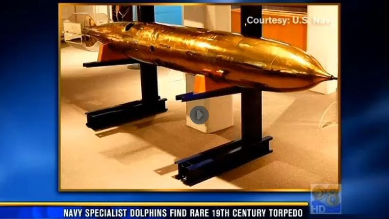 Een foto van de eerste Howell-torpedo Beeld CBS 8