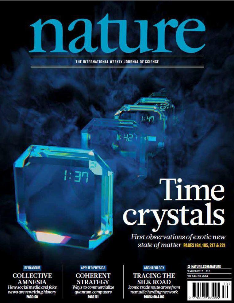De cover van tijdschrift nature. Beeld Nature