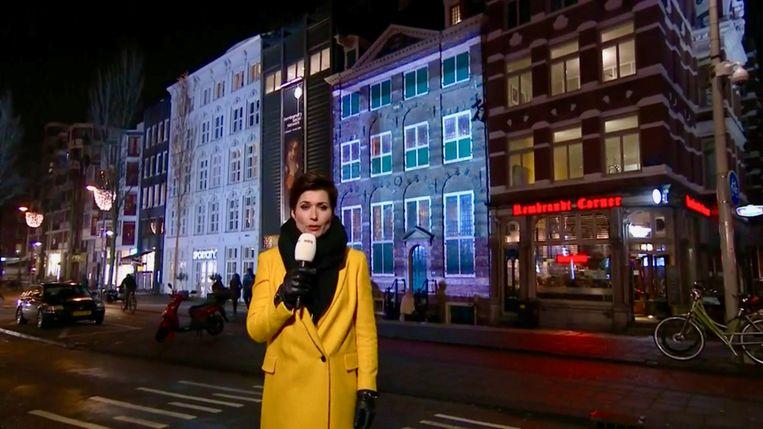 Annechien Steenhuizen luidt de start van het Rembrandtjaar in. Beeld Still van tv