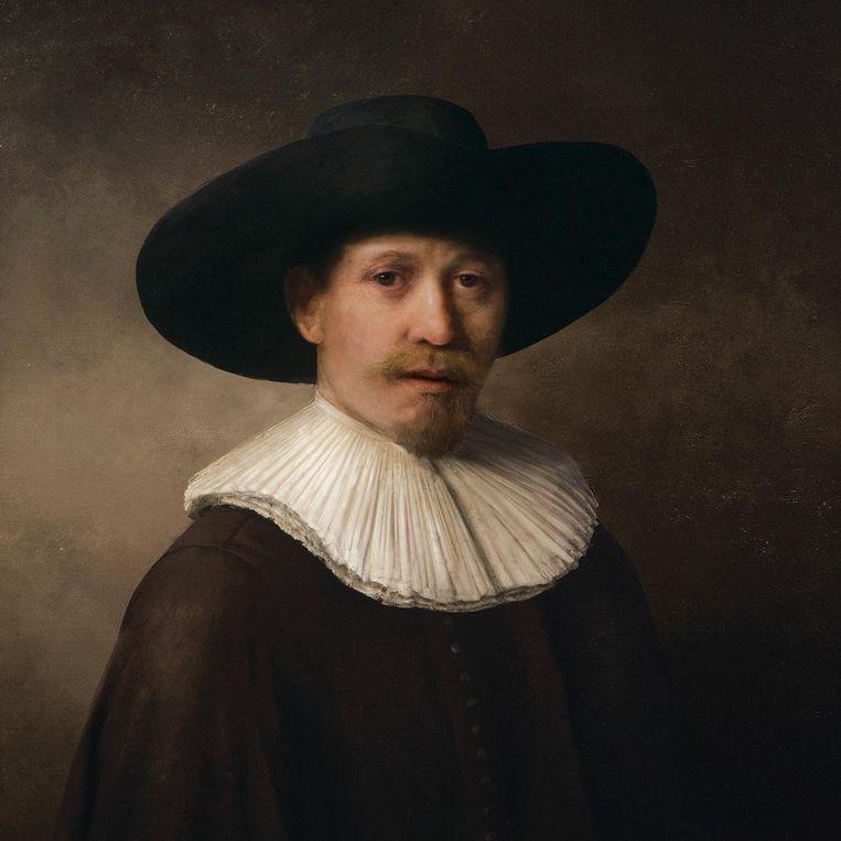 Een door de computer gemaakt schilderij in de stijl van Rembrandt. Beeld The Next Rembrandt