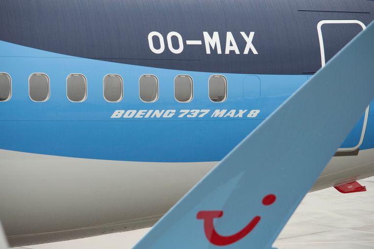 Het nieuwste vliegtuig van de TUI-vloot. Volgens de managing director geeft de pilotenuitwisseling TUI Benelux meer flexibiliteit.