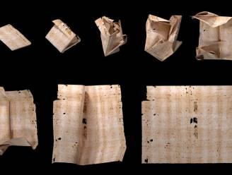 Onderzoekers lezen 17e-eeuwse brief zonder hem te openen