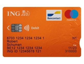 Bankkaarten ING krijgen inkeping