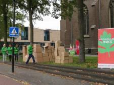 Ludiek protest in Mill tegen woningnood: 'Onze jeugd moet anders in kartonnen huizen wonen'