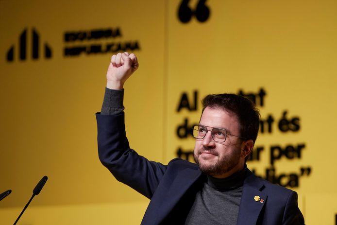 Pere Aragones van de partij ERC wordt allicht de nieuwe premier van Catalonië.
