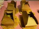 De dumplings worden geleverd in handige doosjes, die zo de oven in kunnen