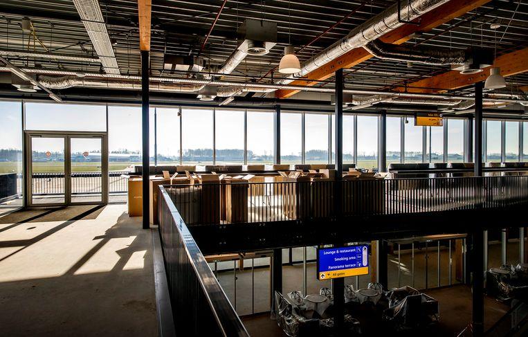 De nieuwe terminal van Lelystad Airport.  Beeld ANP