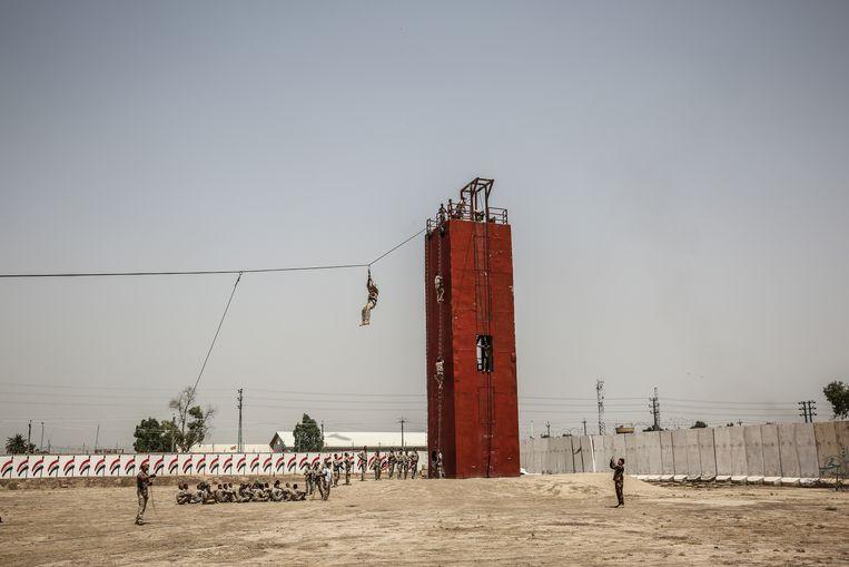 De Belgische Special Forces trainen Iraakse troepen.  Beeld RV