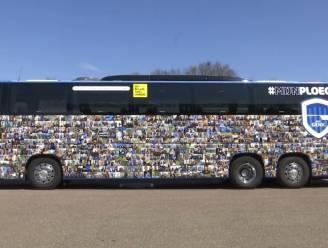 Genk pakt voor bekerfinale uit met speciale bus die is volgeplakt met foto's van 3.500 fans