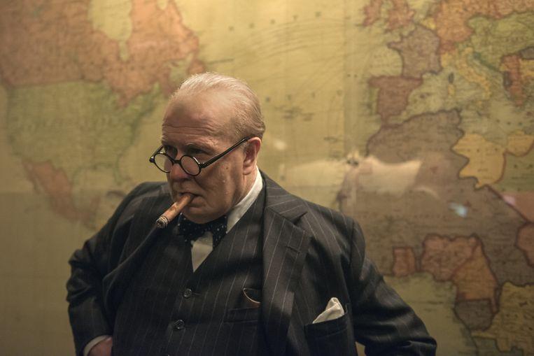 Gary Oldman in 'Darkest Hour'. Beeld Jack English