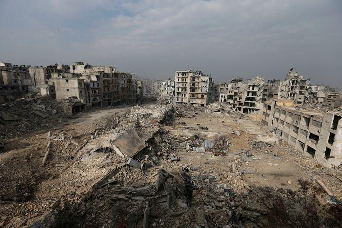 Een deel van Oost-Aleppo waar de Russen en Turken lang stand hebben kunnen houden tegen gewapende rebellen.