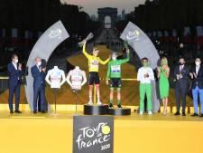 Des mannequins pour les maillots de Pogacar: image inédite sur le podium du Tour