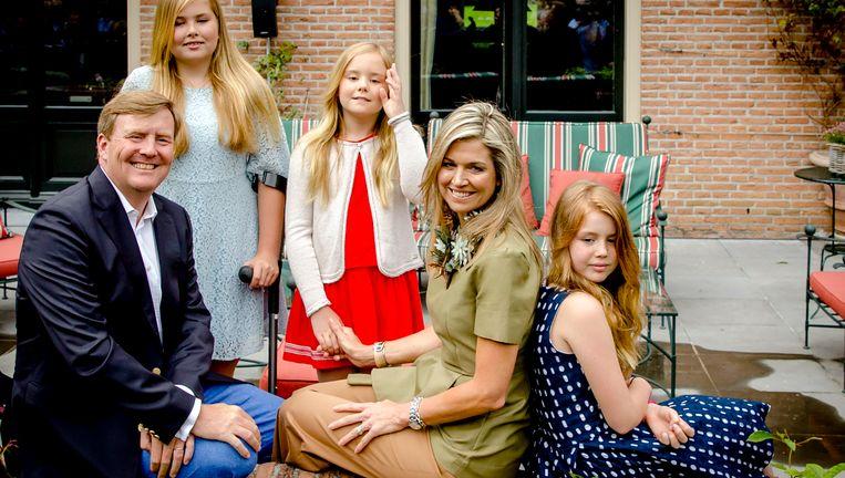 De koninklijke familie. Beeld ANP