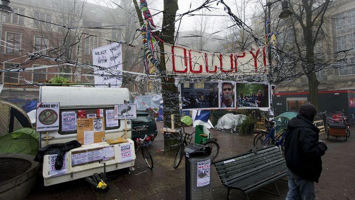 De ondernemers hebben niet van de burgemeester geëist de Occupiers een harde deadline te geven. © anp