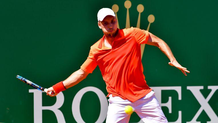 Steve Darcis op het tennistoernooi van Monte Carlo. Beeld Photo News