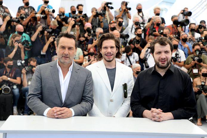 Gilles Lellouche, François Civil, Karim Leklou au photocall du film Bac Nord