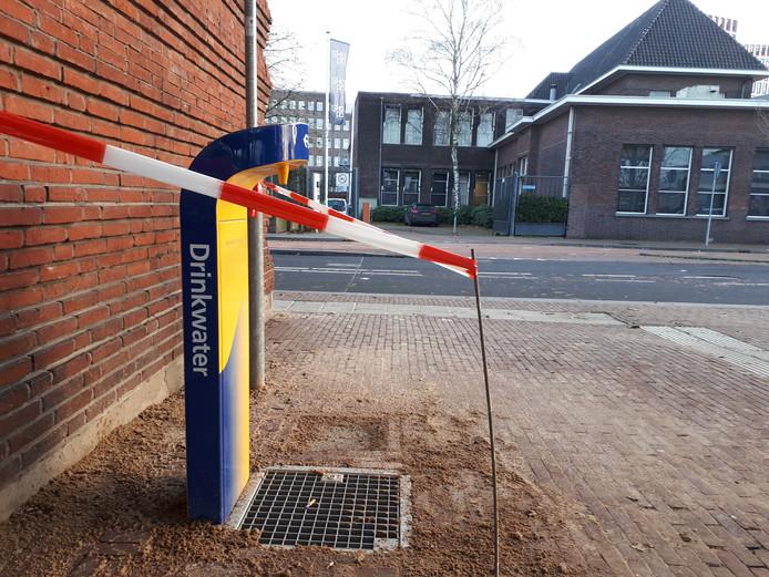 Drinkwaterpunt bij station in Almelo.