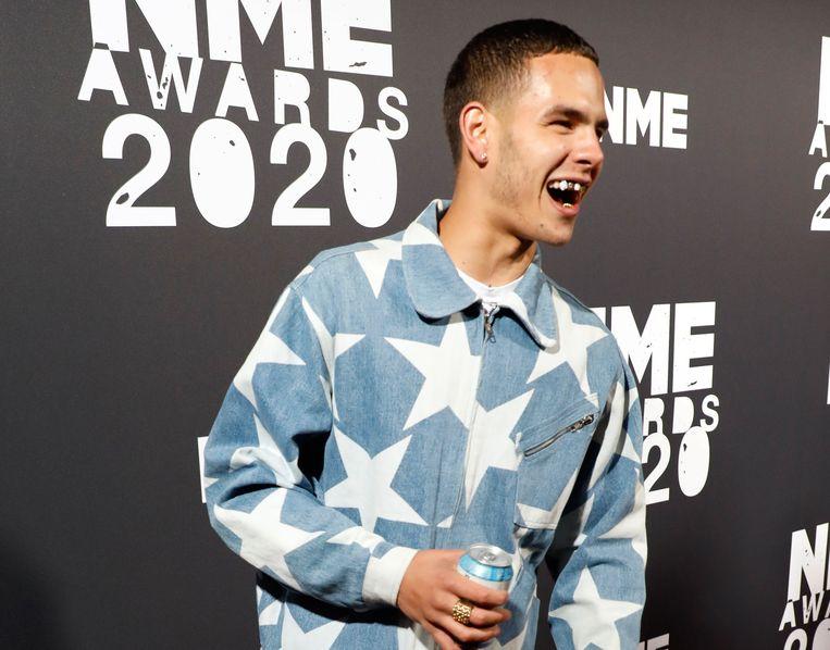 Slowthai op de NME Awards. Beeld Photo News