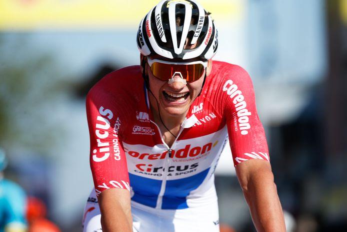 Mathieu van der Poel won de Amstel Gold Race in 2019.