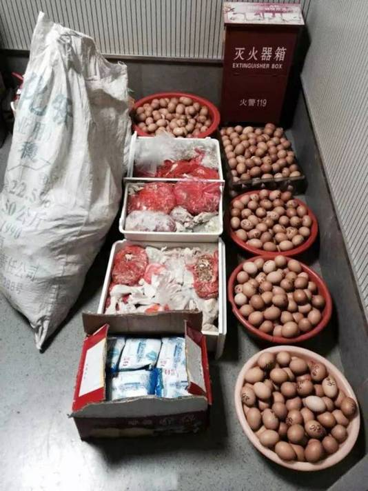 In het huis werden naast eieren nog meer gestolen spullen aangetroffen