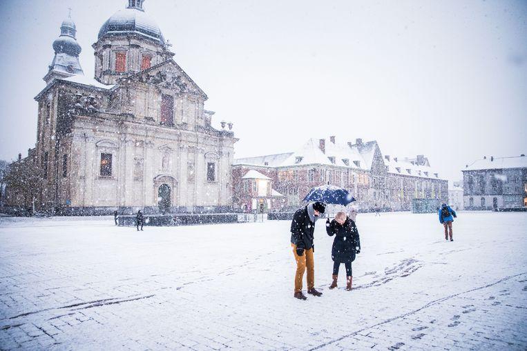 Sneeuw in Gent. Beeld Wannes Nimmegeers