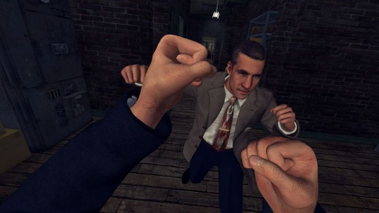 Scène uit 'L.A. Noire: The V.R. Case Files'. Beeld Rockstar Games