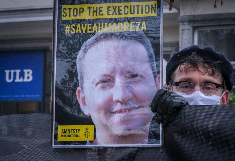 De Zweeds-Iraanse VUB-gastdocent Ahmadreza Djalali zit al jaren vast in een Iraanse cel.  Beeld EPA