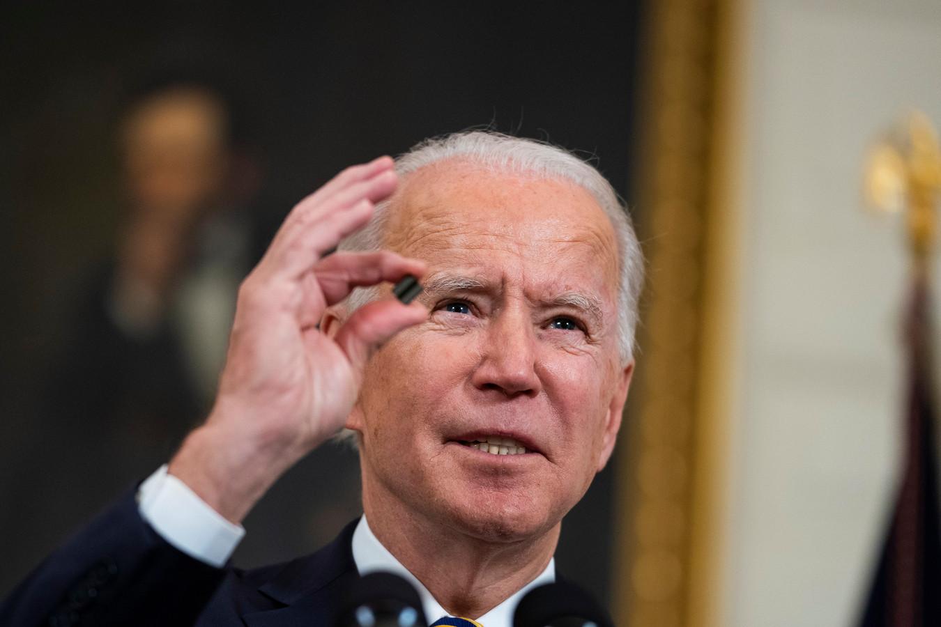 De Amerikaanse president Biden.