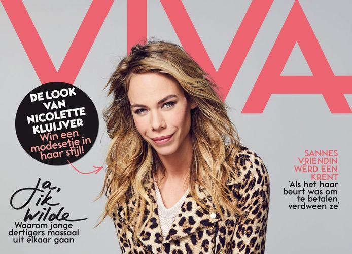 Nicolette Kluijver op de cover van Viva.