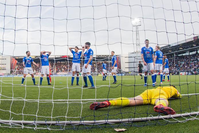 Het seizoen eindigde met de uitschakeling in de play-offs door Go Ahead Eagles.