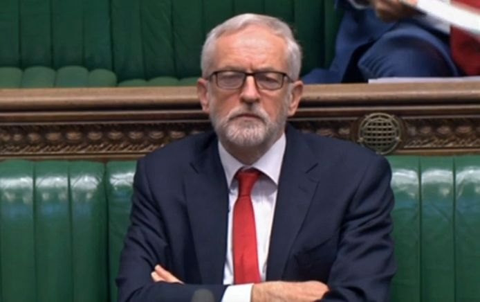 Aftredend Labour-leider Jeremy Corbyn.
