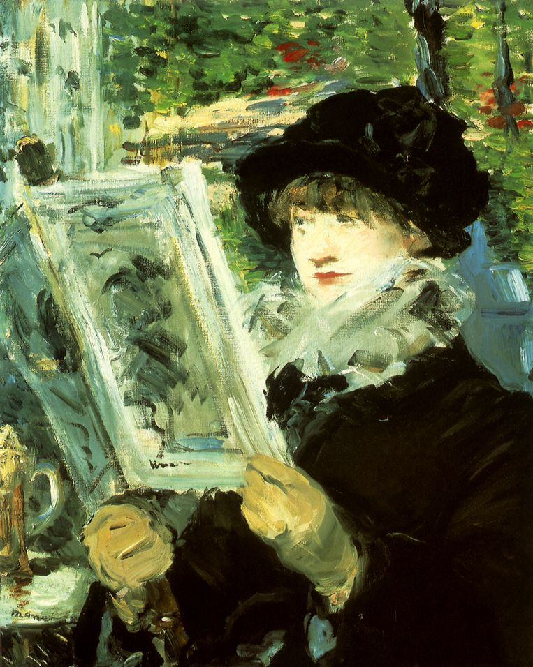'Lezende vrouw' van Édouard Manet (1879). Beeld Universal Images Group via Getty