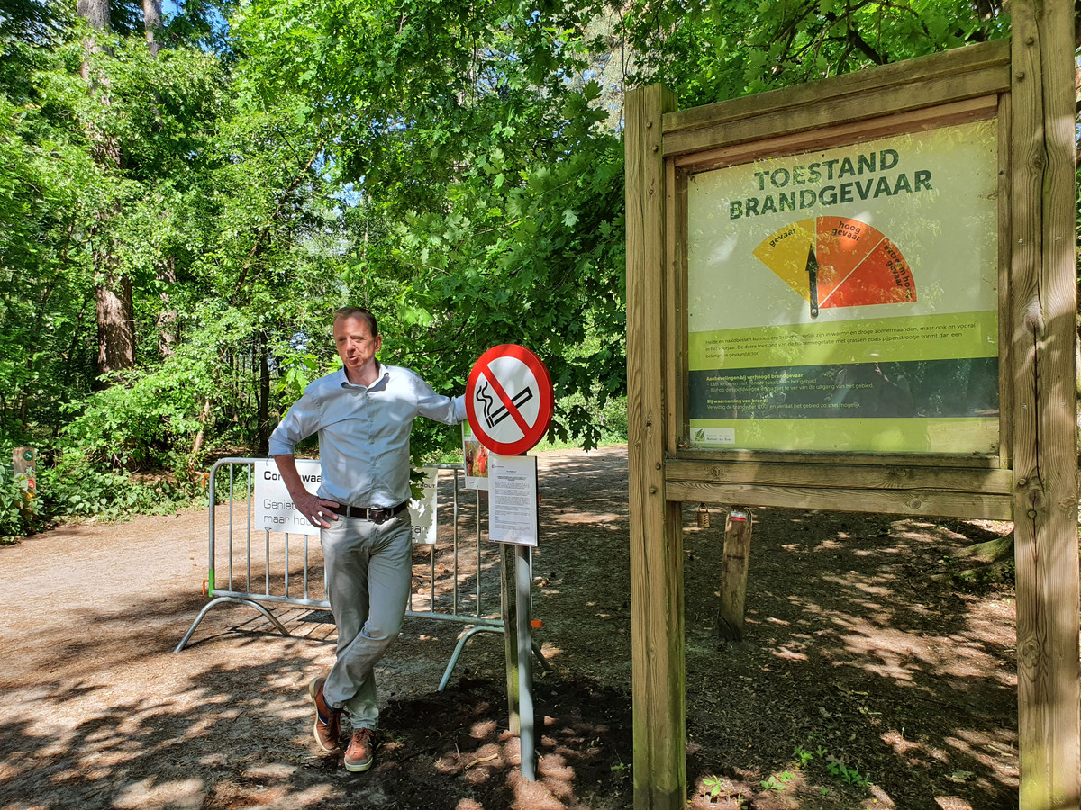 Burgemeester Lukas Jacobs van Kalmthout voerde vorige week al een rookverbod in op de Kalmthoutse Heide.