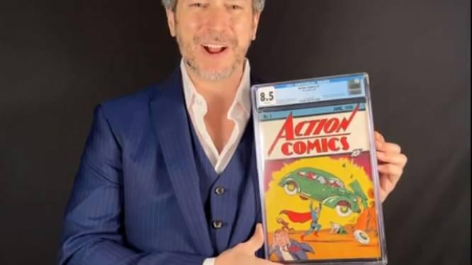 Zeldzame Superman-strip verkocht voor recordbedrag van 2,37 miljoen euro